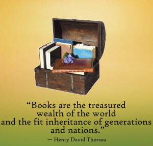 Motivational Quote on books the treasure wealth of the world by Henry ...