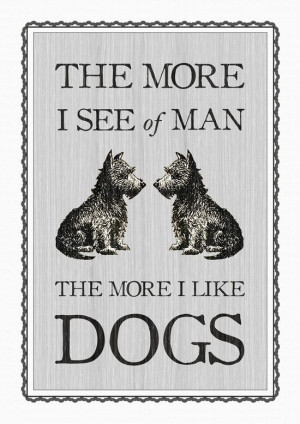 Vintage Dog Quote Poster