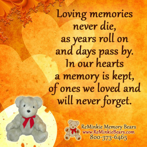 Memories Of Loved Ones Passed Quotes Loving memories never die,