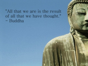 ... to stress the meaning behind the Buddha's great philosophies