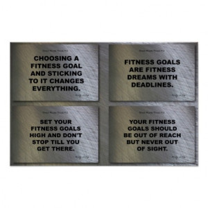 Goals Quotes Fitness Collage Poster