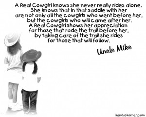 Cowgirl Quotes About Life Rules: A Cowgirls Thanksgiving Quote On The ...