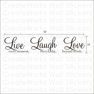 Live Laugh Love - Wall Art Sticker | Wall Quote - WA088X