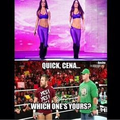 wonder if the Bella's have ever considered switching on Cena and ...