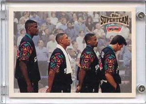 ... 199697 Topps Super Team 136 David Robinson Doc Rivers Avery Johnson