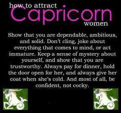 Capricorn Women Confident not cocky!!! Cd More
