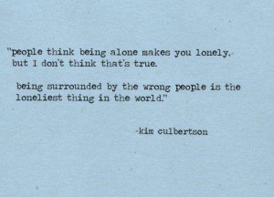 Quote on Being Alone