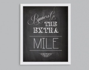 Gift for Runner Go the Extra Mile by StephLawsonDesign on Etsy, $15.00