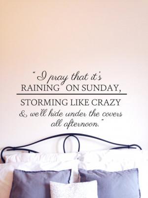 Keith Urban Raining Sunday