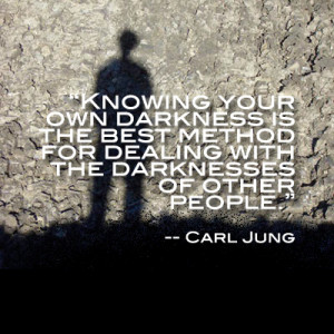... darkness is the best method for dealing with the darkness of other