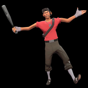 red scout game or game series team fortress 2 appearance