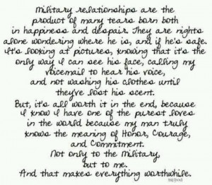 Military relationships.....
