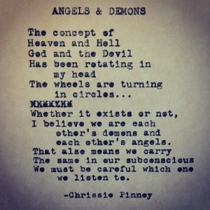... Angels And Demons Quotes Devil, Poetry Quotes, Favorite Quotes, Quotes