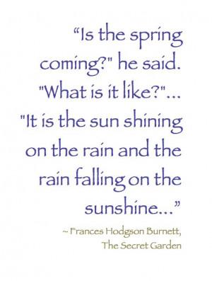 April | #Spring #Garden #Book_quote