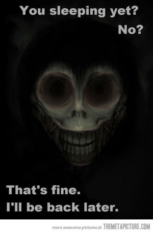 funny creepy scary face sleep