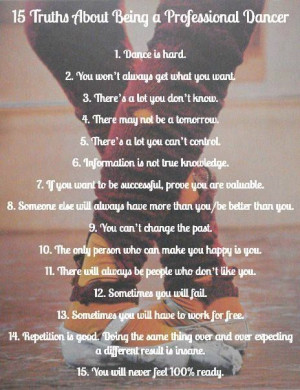 15 Truths About Being a Professional Dancer