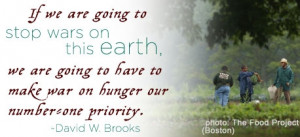 Human Rights Human Rights - Quotes on Hunger - David W. Brooks