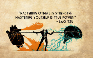... Strength True Power Lao Tzu quotes texts brain heart chains wallpaper