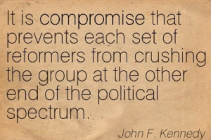 John F. Kennedy quote on compromise