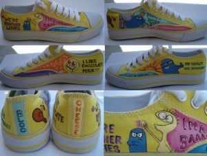 Fosters Home For Imaginary Friends Cheese Quotes Shoe Art - Bloo ...