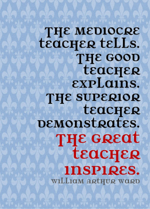 William arthur ward quote Teacher Quotes And Sayings