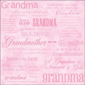 Grandma Words Scrapbook Paper
