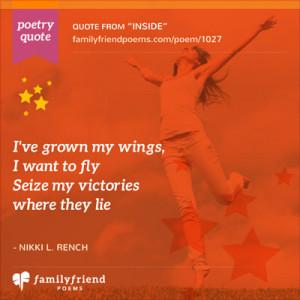 ve grown my wings.