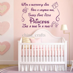 Baby Room Wall Quotes Vinyl Wall Stickers 45x60cm Nursery Wall Decals ...