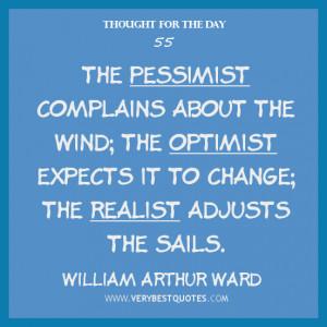 Pessimistic Optimistic Realistic Quote