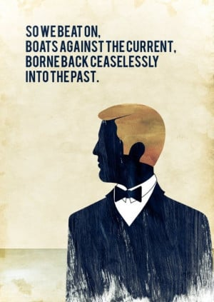 ... with one of the most famous # quotes from the great gatsby as the