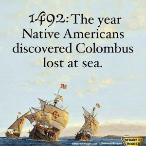 Columbus Day Quote Happy Endings