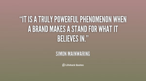 It is a truly powerful phenomenon when a brand makes a stand for what ...