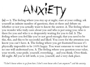 Quotes About Anxiety Tumblr Anxiety: Quotes About ...