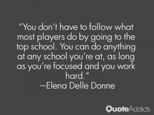 at any school you 39 re at as long as you 39 re focused and you work ...