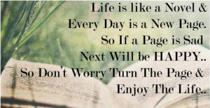 quotes+and+lives++Happy   Turn the page and enjoy the life Happy life ...