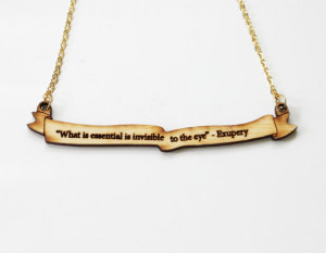 The Little Prince Quote Necklace