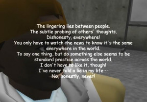 Between levels, we're treated to the inane existential rambling crap ...