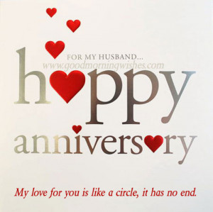 Happy wedding anniversary to my husband: Love You Dear