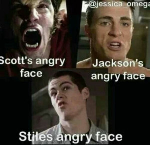 dylan o'brien, funny, haha, jackson, lol, scott, stiles, teen wolf ...
