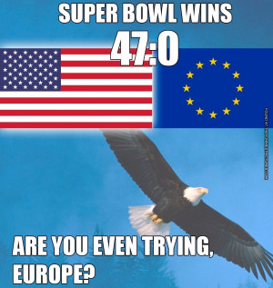 Super Bowl Wins Europe Usa