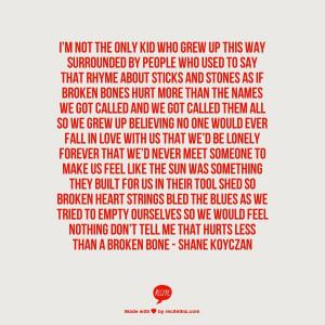 Beautiful spoken word poem by Shane Koyczan, if you haven't seen it ...