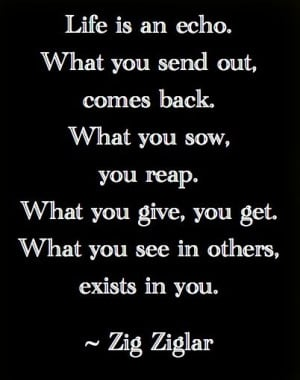 you give, you get. What you see in others, exists in you.Life Quotes ...