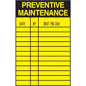 Preventive Maintenance Safety Inspection Labels - 90095