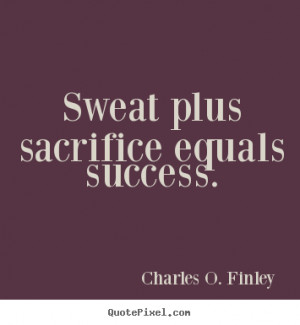 Sweat And Sacrifice Motivational Quotes Posters