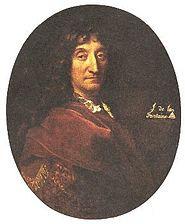 Portrait of La Fontaine attributed to François de Troy