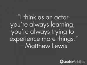 Matthew Lewis Quotes