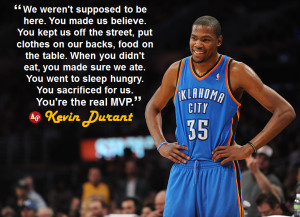 Kevin Durant Quotes Mvp Kevin durant mvp speech quote