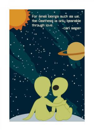 ... Press > Geeky Greetings > Carl Sagan Cosmic Love Geeky Greeting Card