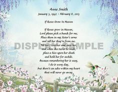 beautiful sister poems | Details about Personalized Memorial Poem For ...
