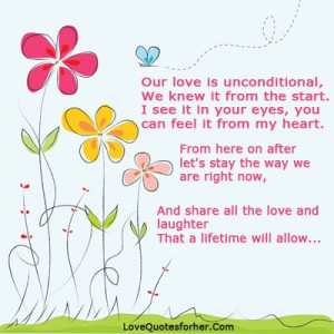 My love is unconditional quotes for and him by lovequotesforher